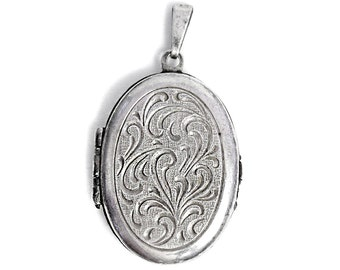 Foto Medallion Pendant Antique Silver Art Deco