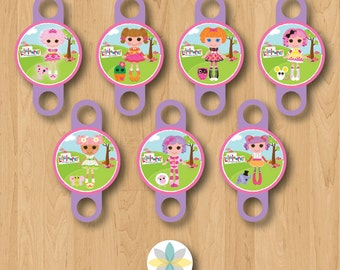 Lalaloopsy Birthday Party Blow Out Toppers - INSTANT DOWNLOAD