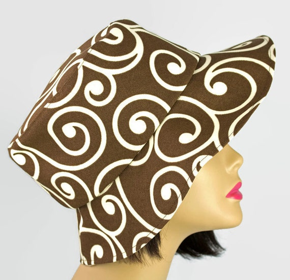 """Reversible Sun Hat Brown & Cream 