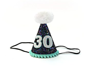 30th Birthday Hat    Adult Birthday Hat    40th, 50th, 21st, Any Number    Over The Hill    Little Blue Olive