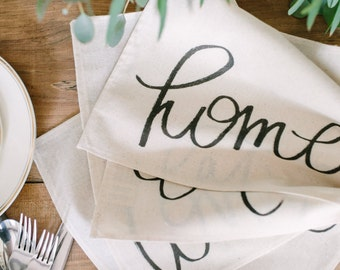 SET Family Words Placemat, home decor, present, housewarming gift, tablewear, table scene, place setting, set the table, place mat