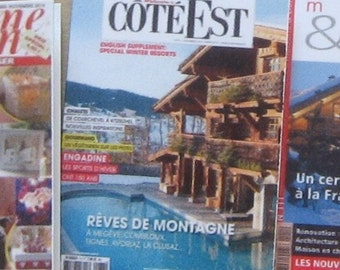 dollhouse French cote est magazine 12th scale miniature