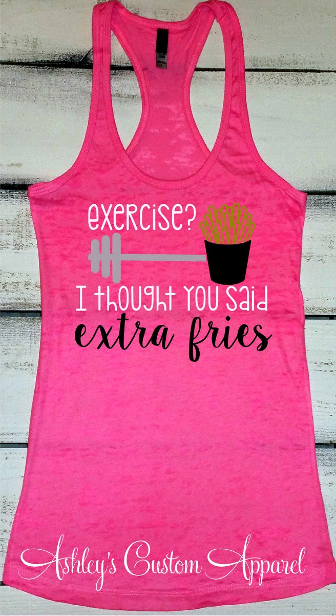 Funny Workout Shirt Exercise Tank Workout Tank Top I
