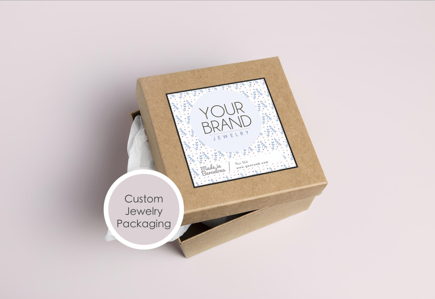 Printable Jewelry packaging custom stickers, Packaging label for ...