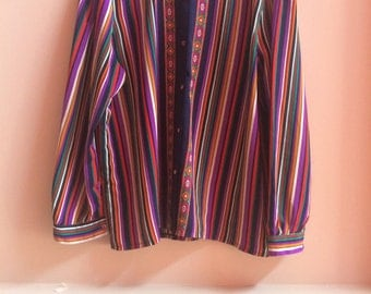 Striped Retro 90s Blouse