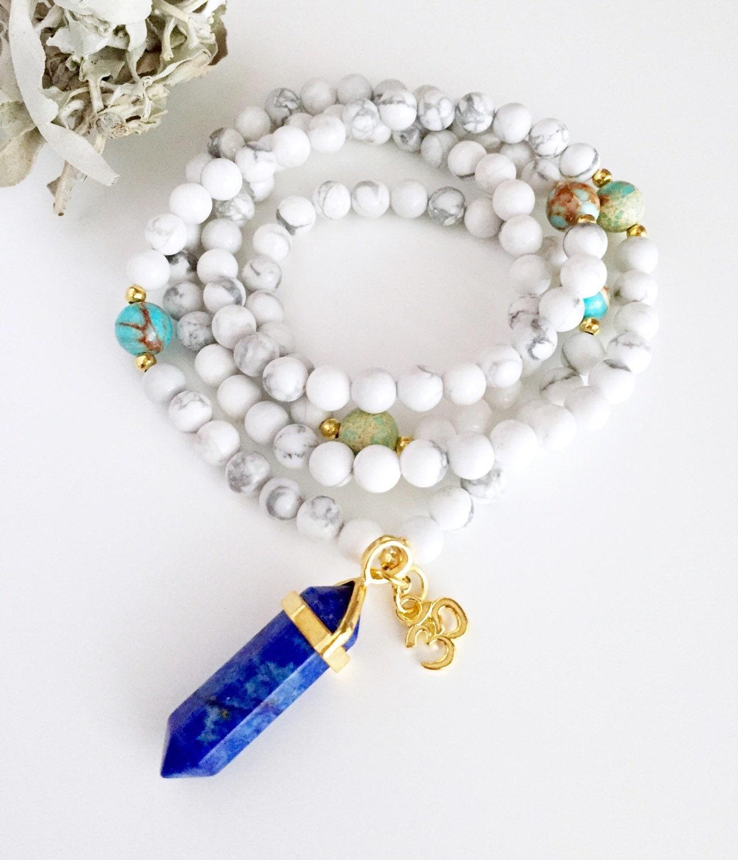 Yoga Beads: 108 Mala Mala Necklace Mala Beads Yoga Gift Prayer Beads