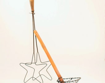 Antique Rug Beater, Star Rug Beater, Rustic Primitive Home Decor, Egg Lifter