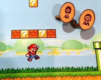 Mario and Luigi cufflinks