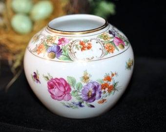 Dresden Flower Vase, Schumann, Antique porcelain vase, Dresden, Germany, porcelain, #614