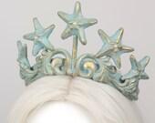 Starfish bronze mermaid tiara crown