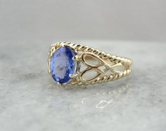 Tanzanite Anniversary Ring in Yellow Gold Setting  CF57PK-R