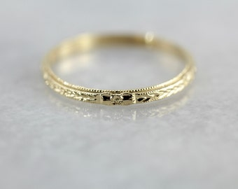 Yellow Gold Stacking or Wedding Band, The Mallory Band from The Elizabeth Henry Collection