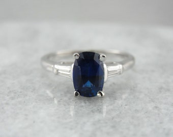 Sapphire and Diamond Engagement Ring QNJTFA-D