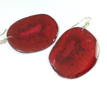 orange Kiwi earrings