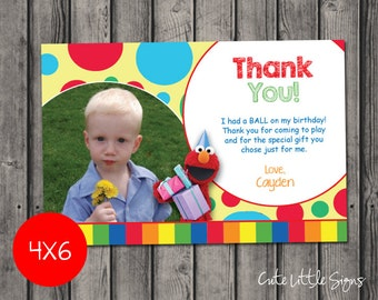 Sesame Street Elmo Thank You Card Digital Download