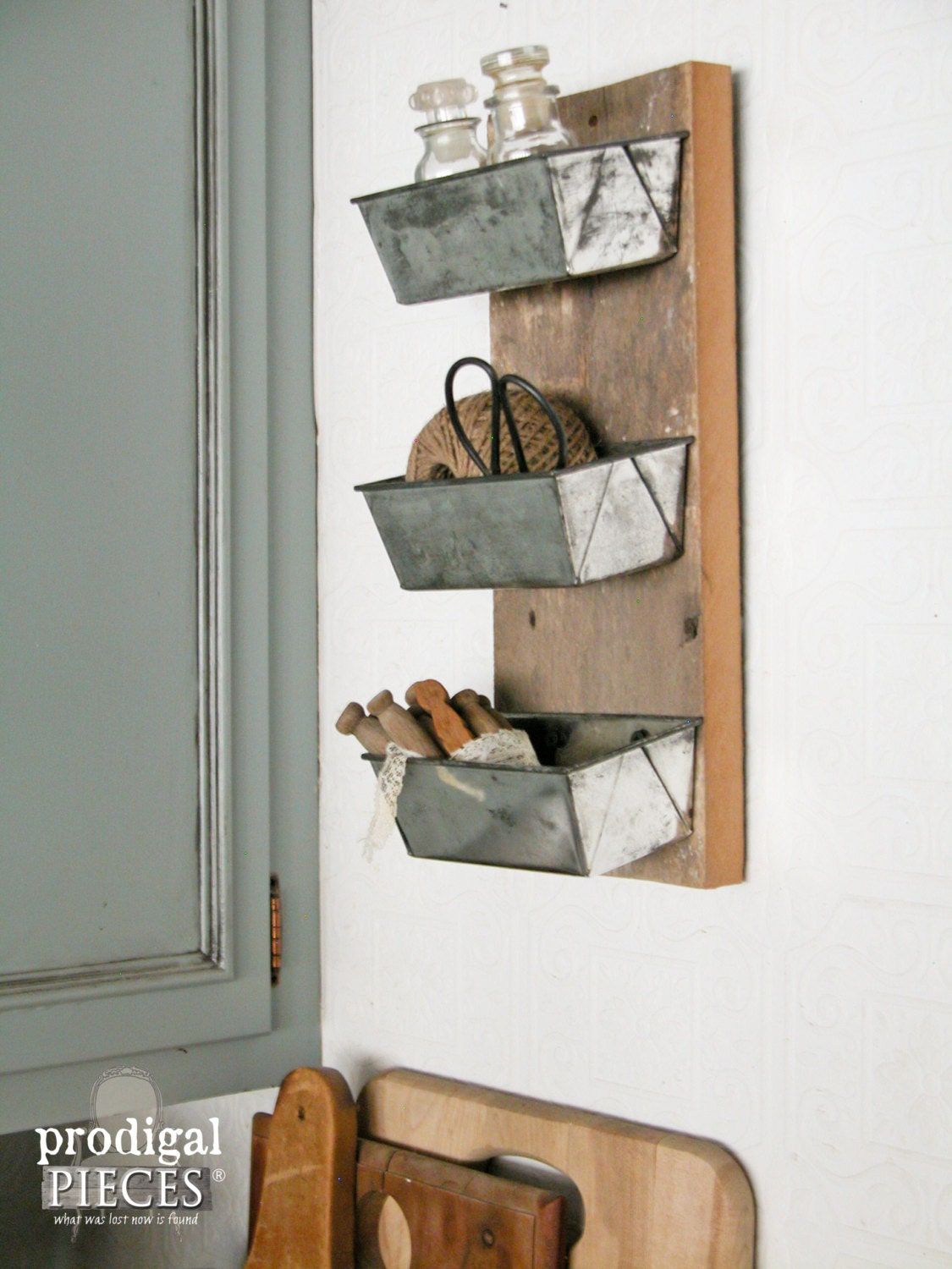 Reclaimed And Repurposed Barn Wood Shelf Cubby From Vintage