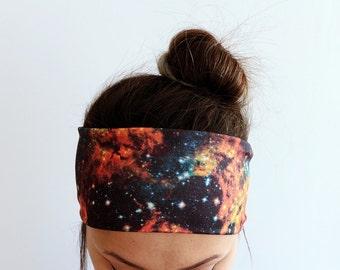 Yoga Headband - Fitness Headband - Workout Headband - Running Headband - Boho Headband - Elastic Headband - Galaxy Nebula Boho Headband Y39