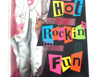 1986 Mattel Barbie and the Rockers Fashions 3131 Ken Complete with Box