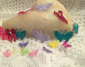 Fabric Butterflies, Mixed Fabric Butterflies,