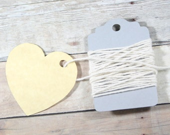 Heart Shaped Tags Set of 20 - Antique Gold Heart Tags - Bridal Shower - Wedding Favor Tags - Gold Heart Tags - Valentine Tags - Baby Shower