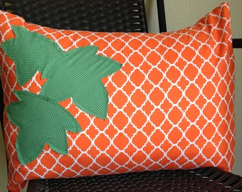 Orange Pillow Cover 16 x 20 Fall|Autumn Pillow Cover Orange Pillow Cover Pumpkin Pillow Cover Leaf Pillow Cover Thanksgiving Pillow Cover