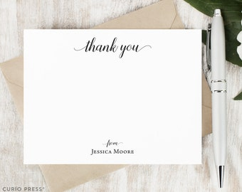 Personalized Thank you Card Set / Script Personalized Stationary / Stationery Personalized Notecards / Personalised // GRACEFUL THANK YOU
