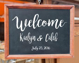 Vinyl Wall Art Custom Wedding Signs Wedding Welcome Decal |Custom Wedding Decal Personalized Wedding GraphicsWedding Vinyl