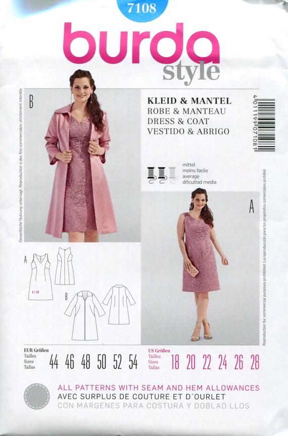 Dress coat pattern cocktail dress pattern bridesmaid for Plus size wedding dress sewing patterns