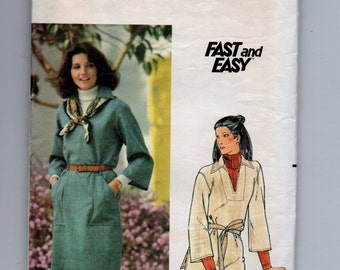5561 Butterick Sewing Pattern Loose Fitting Tubular Dress Size Meduim 12/14 Vintage 34B 36B