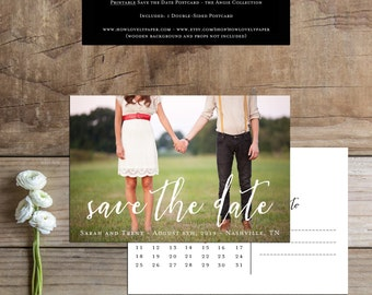 Printable Save the Date Postcard - the Angie Collection - Save the Date - Printable Save the Date
