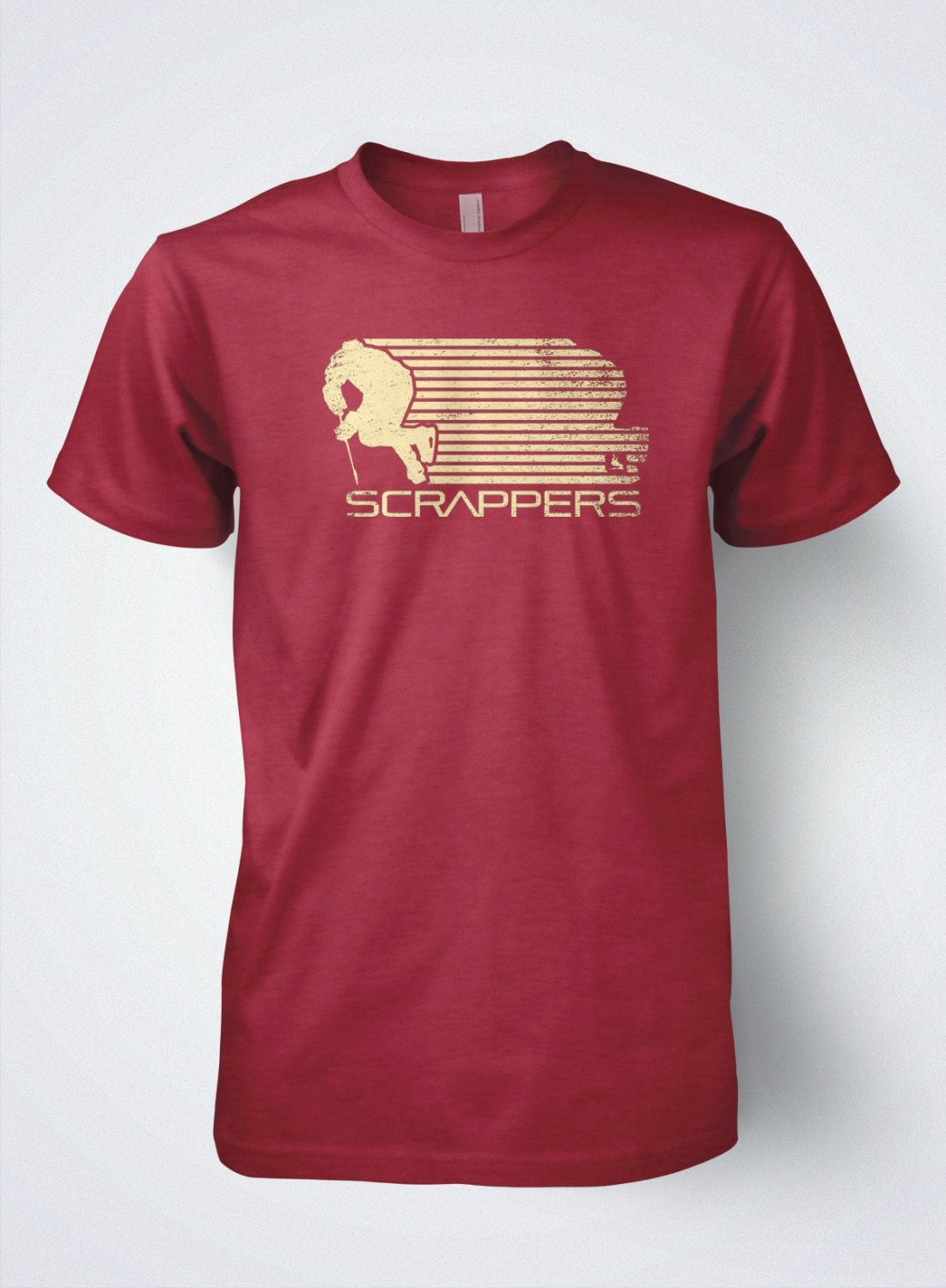 Hockey t shirt mens retro by scrappers hockey for Retro nhl t shirts