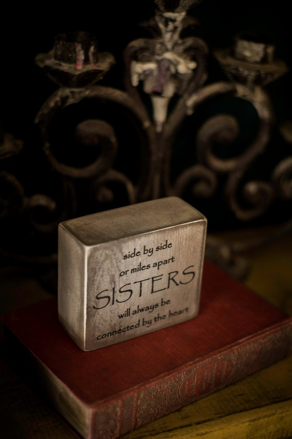 Sister Gift Sisters Office Decor Home Decor Quote Block