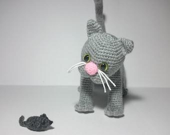 """PDF crochet pattern - pattern """"Cat Pino"""""""
