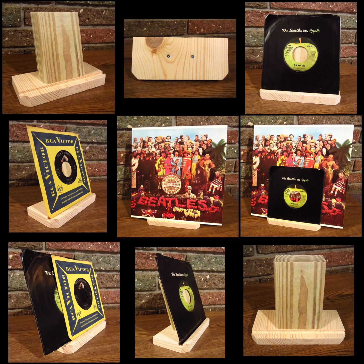 Now Playing Record Stand For 12 Vinyl Lp Albums And Or