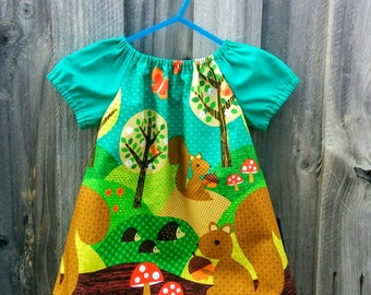 Girls Peasant Style Dress. Size 1. Nuts for Dinner.