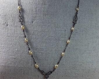 Antique Art Nouveau Costume Pearl Necklace