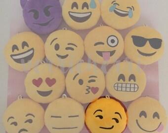 Emoji Plush [Smirk] Keychain Cushion Accessory