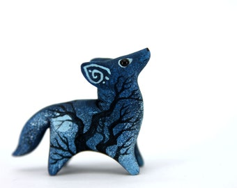MADE TO ORDER Moon Wanderer Wolf Sculpture