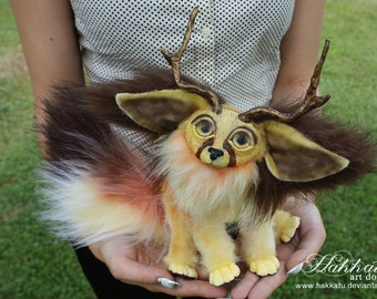 PREORDER: Poseable Fantasy Fennec Fox OOAK Art Doll