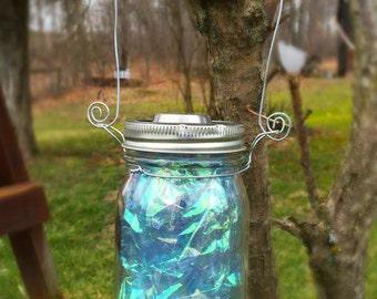 Mason Jar  Solar Light Lantern Fairy Garden Outdoor Lighting