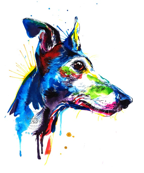 Dog Painting Colourful