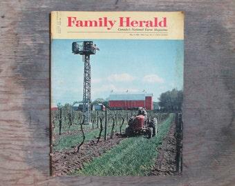 Canada's National Farm Magazine, Family Herald Magazine, 1968 Farming Magazine, Vintage Farm Memorabilia, Canadian Memorabilia, Canadiana