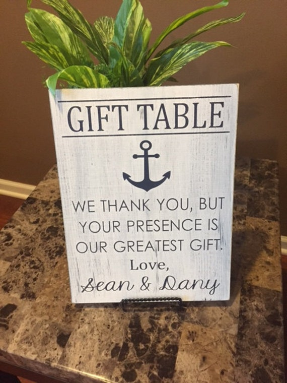 Thank You Sign For Wedding Gift Table : gift table sign, Nautical themed wedding, wedding decor, wedding sign ...