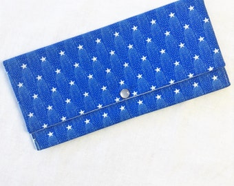 Blue and White  Star Wallet