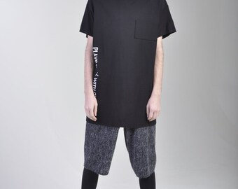 Ponte knit mens extended tee