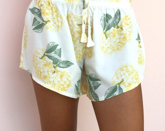 Biasa Pajama Shorts - Hydrangea YELLOW - Code: P005