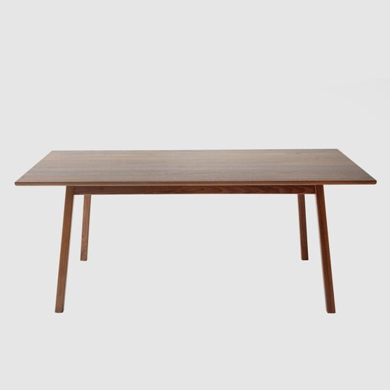 Solid Walnut Dining Table Midcentury Inspired Contemporary