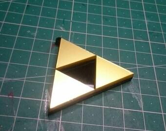 Keychain Pendant Necklace - Zelda triforce nintendo videogame