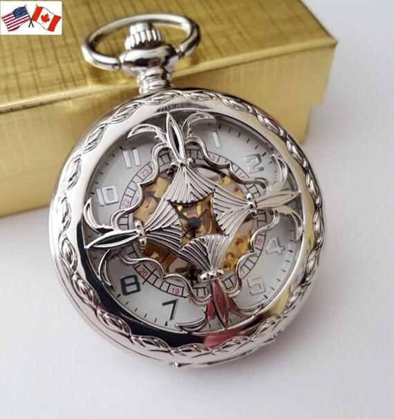 pocket groomsmen gift sets silver by pocketwatchpurveyor