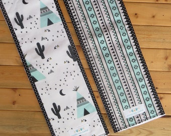 NEW: Infant Burp Cloths- Teepee and Aztec stripe (set of 2 )